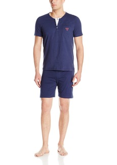 GUESS Men's Sleepwear Sleeve Top and Short Set  S