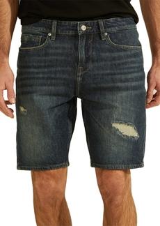 Guess Men's Slim Destroyed Denim Shorts