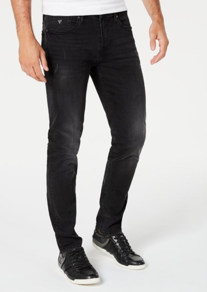 Guess Men's Slim-Fit Black Jeans