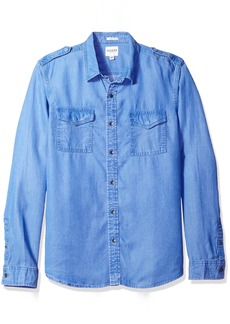 GUESS Men's Slim Fit Lyocell Shirt  XL