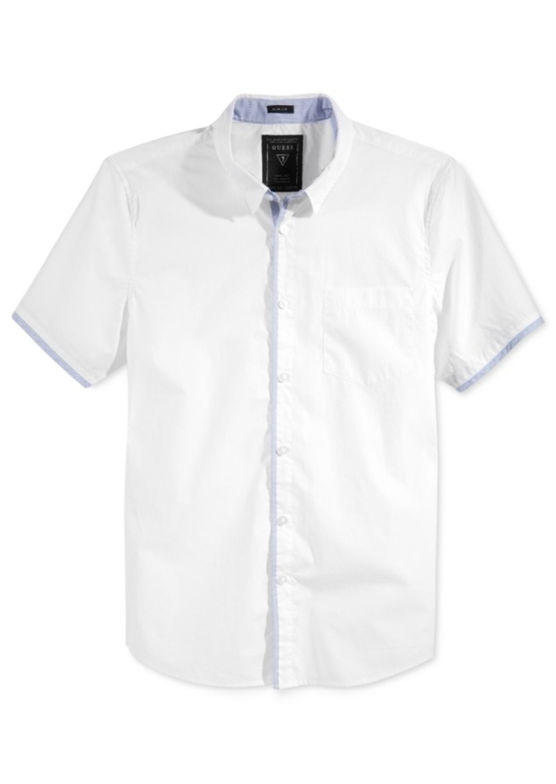 Guess Men's Slim-Fit Riley Short-Sleeve Shirt
