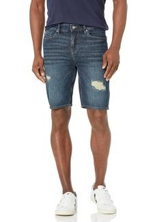 GUESS Men's Slim Fit Ripped Denim Shorts