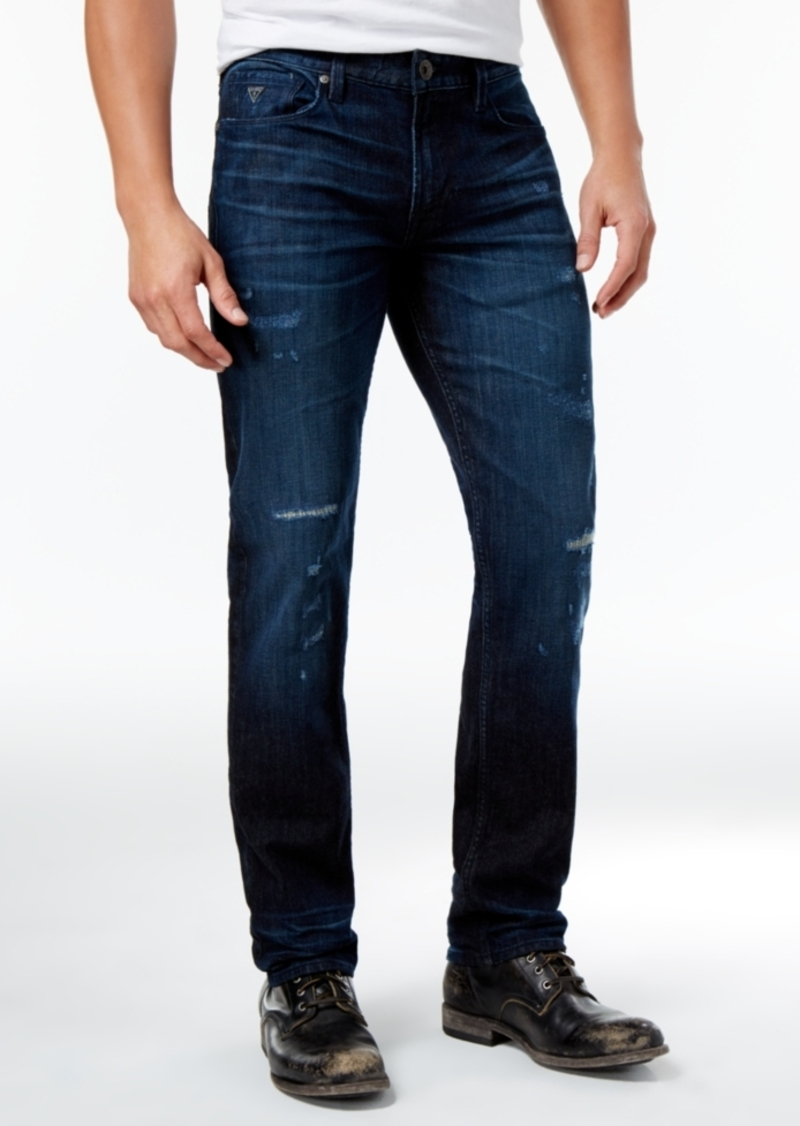 fe1f38be966 SALE! GUESS Guess Men's Slim-Fit Straight Ripped Jeans