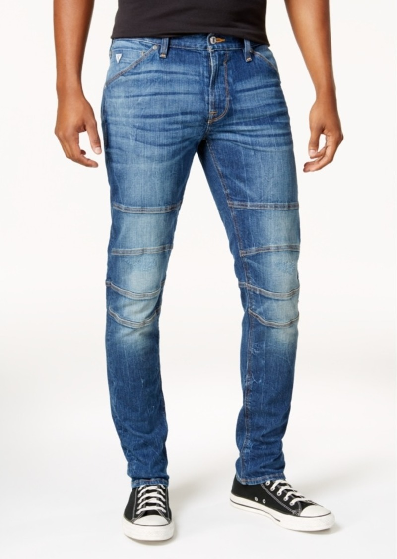 6b6a299617965f GUESS Guess Men's Slim-Fit Tapered Stretch Destroyed Moto Jeans Now ...