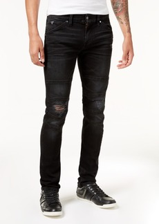 Guess Men's Slim-Fit Tapered Stretch Ripped Moto Jeans