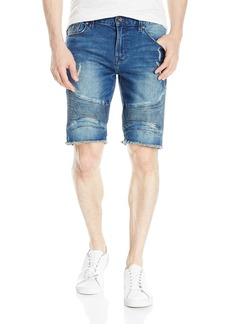GUESS Men's Slim Sewanne Wash Denim Shorts Sewanee