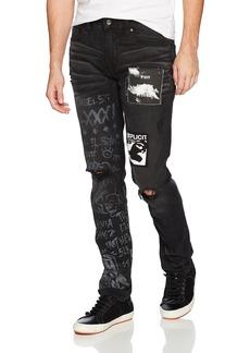 GUESS Men's Slim Taper Rebel Wash Jean
