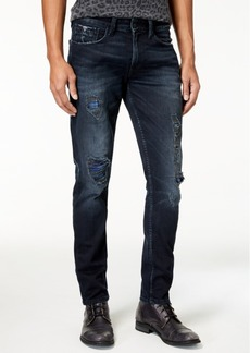 Guess Men's Slim Tapered Fit Stretch Destroyed Jeans