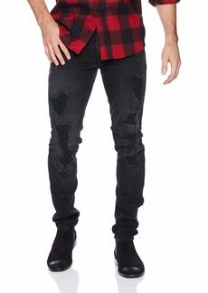 GUESS Men's Slim Tapered Jean lash Out Black wash Destroy