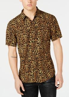 Guess Men's Spotted Leopard Shirt