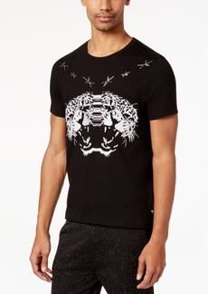 Guess Men's Star Embroidered-Leopard T-Shirt