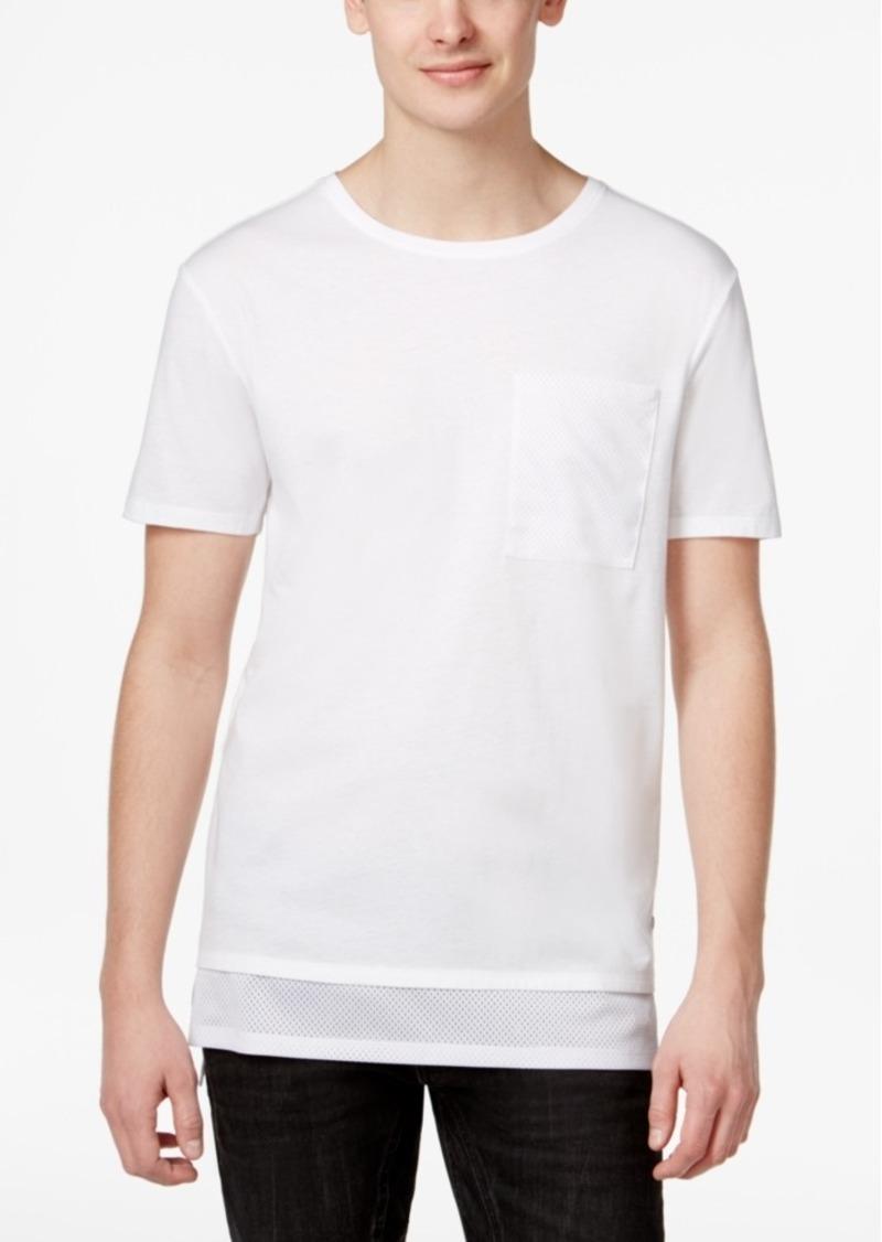 31e53c9ef8b7 GUESS Guess Men s Stream Jordan Mesh Longline Cotton Pocket T-Shirt