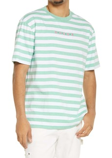 GUESS Men's Stripe Embroidered Logo T-Shirt