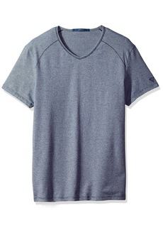 GUESS Men's Stripe V Neck T-Shirt  M