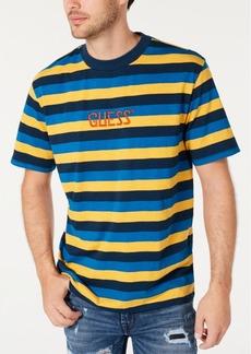 Guess Men's Striped Logo T-Shirt