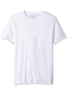 GUESS Men's Tattoo Stripe Crew Neck T-Shirt  L
