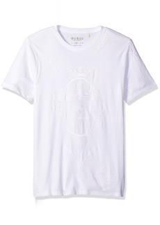 GUESS Men's Tattoo Stripe Crew Neck T-Shirt  XXL