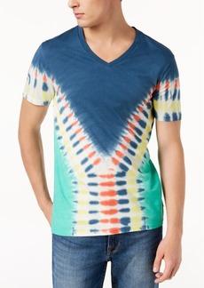 Guess Men's Tie-Dye V-Neck T-Shirt