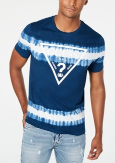 Guess Men's Tie-Dyed Stripe Logo Graphic T-Shirt