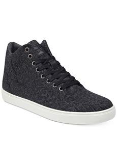 Guess Men's Towman High-Top Herringbone Sneakers Men's Shoes