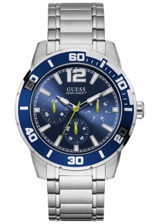 Guess Men's Trek Stainless Steel Bracelet Watch 46mm