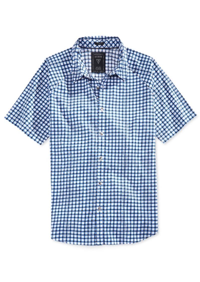 Guess Men's Turner Check Raglan-Sleeve Shirt