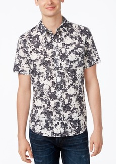 Guess Men's Two Tone Leaf Print Shirt