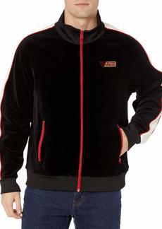 GUESS Men's Velvet Track Jacket