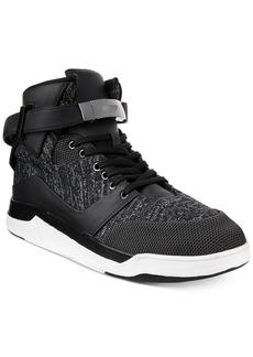Guess Men's Webber Hi-Top Knit Sneakers Men's Shoes