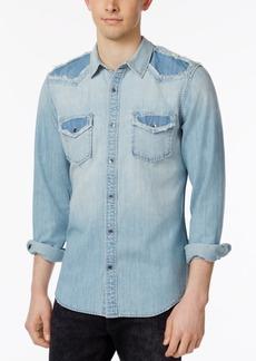 Guess Men's Western Maverick-Wash Denim Shirt