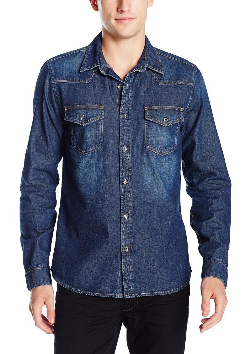 ee5dde6c438a GUESS GUESS Men's Western Slim Fit Denim Shirt XL | Casual Shirts