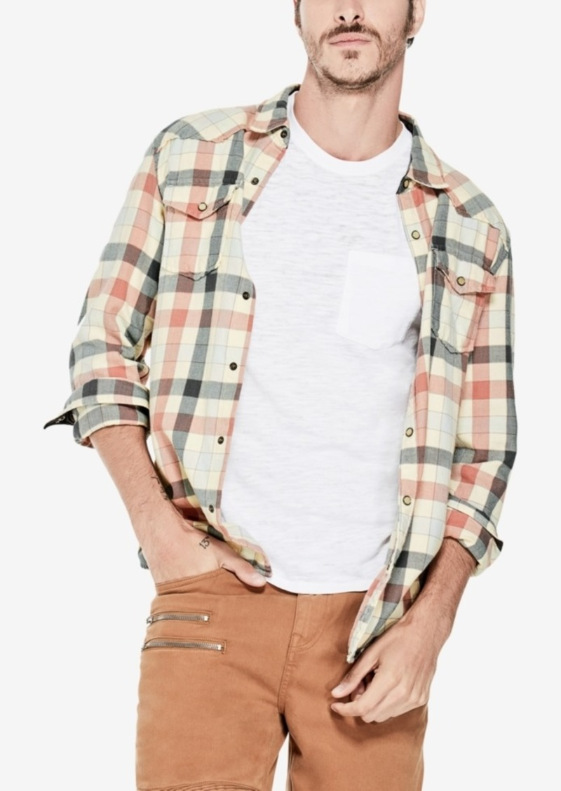 Guess Men's Western-Style Check Shirt