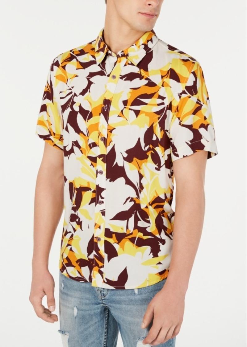 Guess Men's Woodblock Floral Shirt