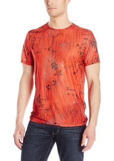 Guess Men's Wynn Mesh Graffiti Crew Neck T-Shirt  L