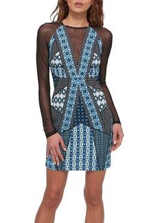 GUESS® Mesh and Print Dress