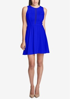 Guess Mesh-Detail Fit & Flare Dress