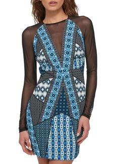Guess Mesh Sheath Dress