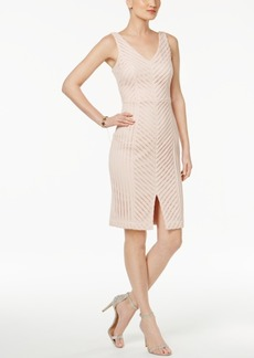 Guess Mesh V-Neck Sheath Dress