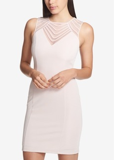 Guess Mesh-Yoke Bodycon Dress