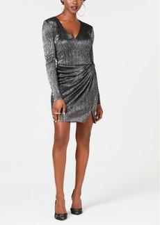 Guess Metallic Gathered-Skirt Dress