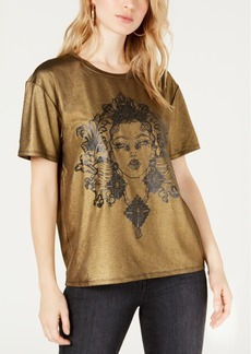 Guess Metallic Graphic-Print T-Shirt
