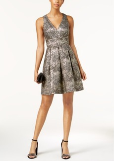 Guess Metallic Jacquard Party Dress