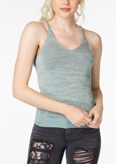 Guess Metallic-Knit Tank Top