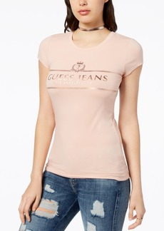 Guess Metallic Logo-Print T-Shirt