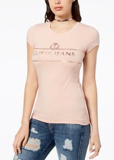 Guess Metallic Logo-Print T-Shirt