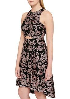 GUESS Metallic Midi Dress