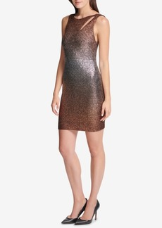 Guess Metallic Ombre Bodycon Dress, Created for Macy's