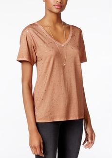 Guess Metallic V-Neck T-Shirt