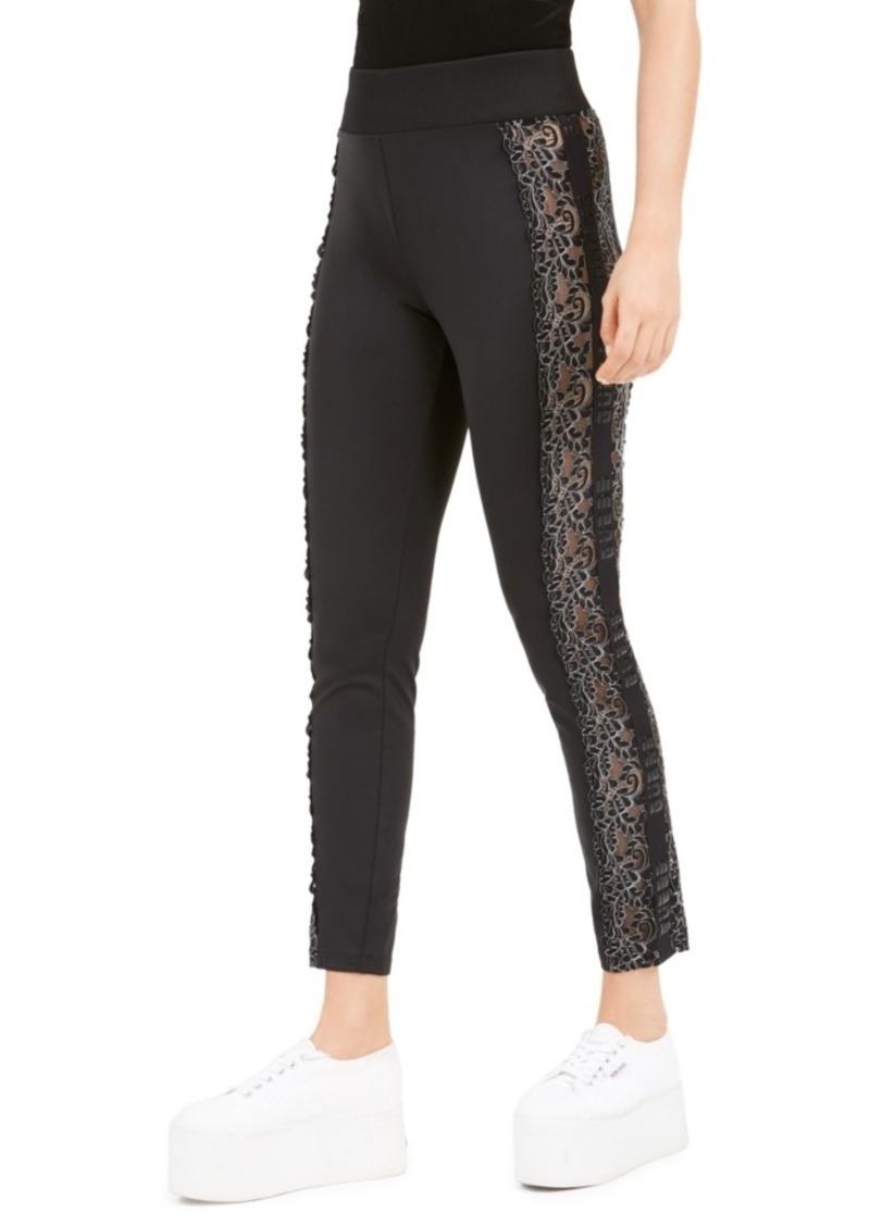 Guess Milo Lace-Inset Pull-On Pants