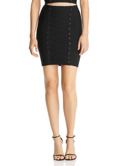GUESS Mirage Ottoman Lace-Up Skirt